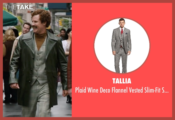 Tallia suit from Anchorman 2: The Legend Continues seen with Will Ferrell (Ron Burgundy)