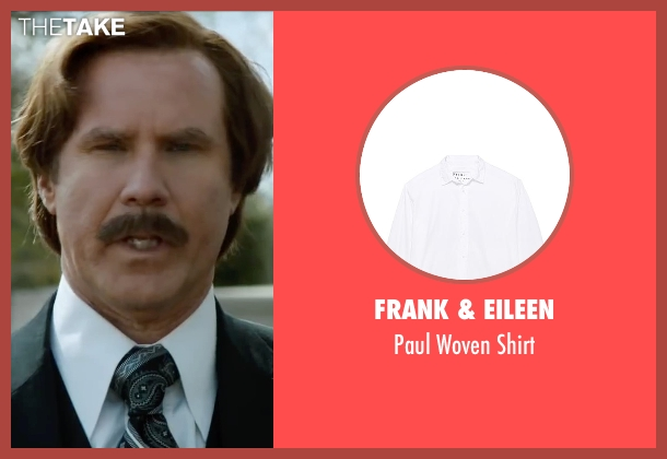 Frank & Eileen white shirt from Anchorman 2: The Legend Continues seen with Will Ferrell (Ron Burgundy)