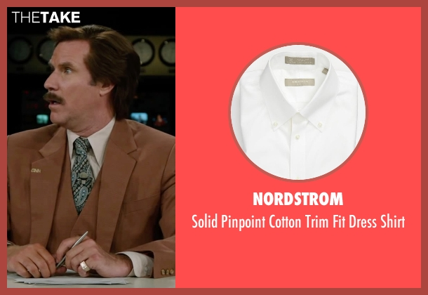 Nordstrom white shirt from Anchorman 2: The Legend Continues seen with Will Ferrell (Ron Burgundy)