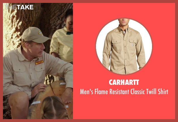 Carhartt beige shirt from Daddy's Home seen with Will Ferrell (Brad)