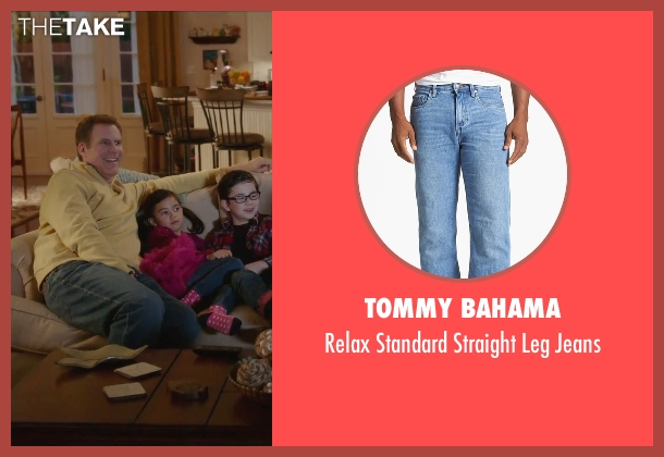 Tommy Bahama blue jeans from Daddy's Home seen with Will Ferrell (Brad)