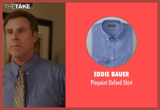 Eddie Bauer blue shirt from Daddy's Home seen with Will Ferrell (Brad)