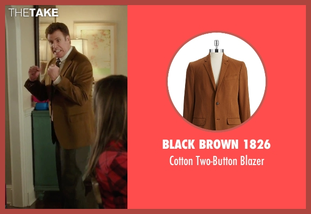 Black Brown 1826 brown blazer from Daddy's Home seen with Will Ferrell (Brad)