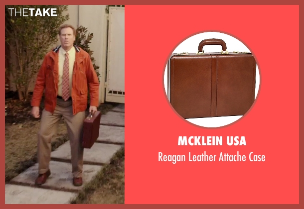 McKlein USA brown case from Daddy's Home seen with Will Ferrell (Brad)