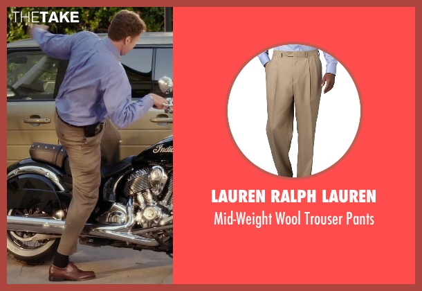 Lauren Ralph Lauren brown pants from Daddy's Home seen with Will Ferrell (Brad)