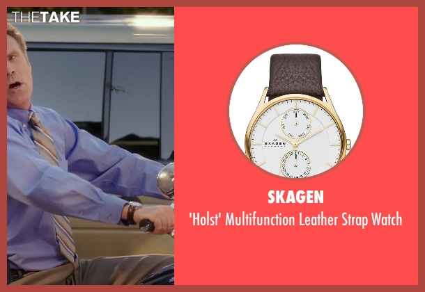 Skagen brown watch from Daddy's Home seen with Will Ferrell (Brad)