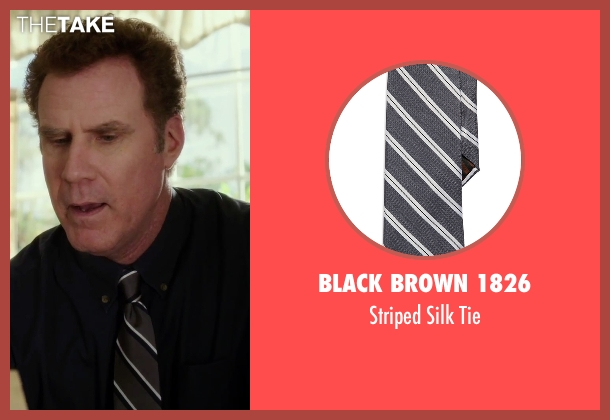 Black Brown 1826 gray tie from Daddy's Home seen with Will Ferrell (Brad)
