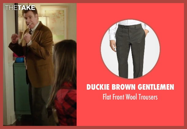 Duckie Brown Gentlemen green trousers from Daddy's Home seen with Will Ferrell (Brad)