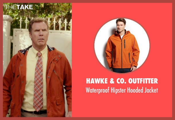 Hawke & Co. Outfitter orange jacket from Daddy's Home seen with Will Ferrell (Brad)