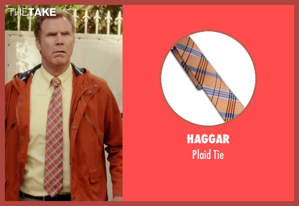 Haggar orange tie from Daddy's Home seen with Will Ferrell (Brad)