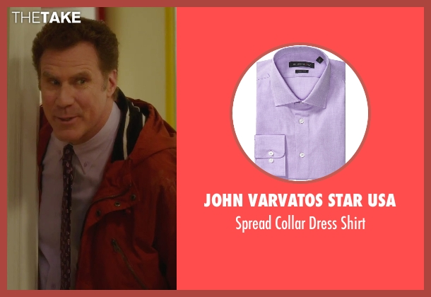 John Varvatos Star USA purple shirt from Daddy's Home seen with Will Ferrell (Brad)
