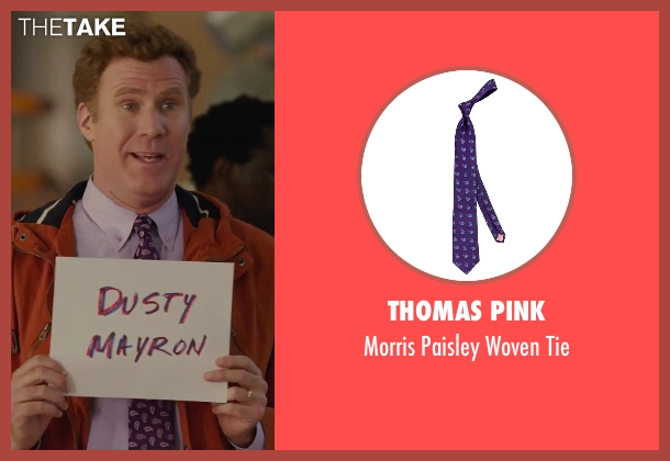 Thomas Pink purple tie from Daddy's Home seen with Will Ferrell (Brad)