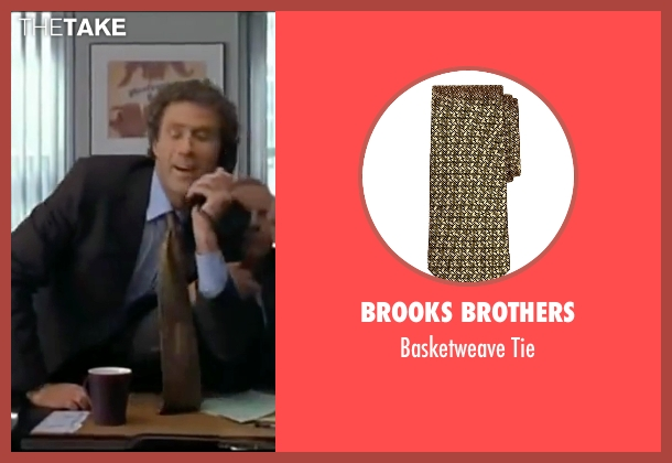 Brooks Brothers gold tie from Elf seen with Will Ferrell (Buddy)