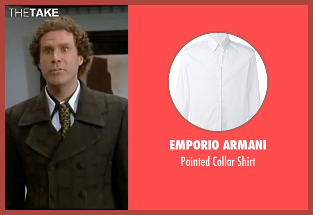 Emporio Armani white shirt from Elf seen with Will Ferrell (Buddy)
