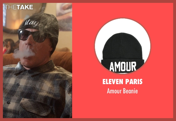 Eleven Paris black beanie from Get Hard seen with Will Ferrell (James King)