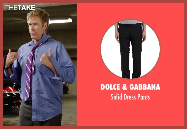 Dolce & Gabbana black pants from Get Hard seen with Will Ferrell (James King)