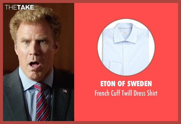 Eton of Sweden blue shirt from Get Hard seen with Will Ferrell (James King)