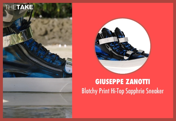 Giuseppe Zanotti blue sneaker from Get Hard seen with Will Ferrell (James King)