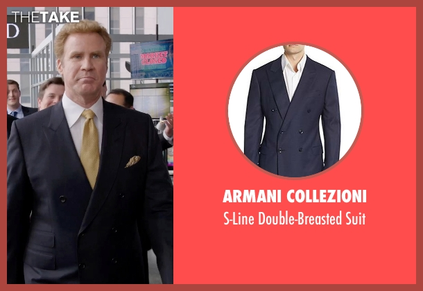 Armani Collezioni  blue suit from Get Hard seen with Will Ferrell (James King)
