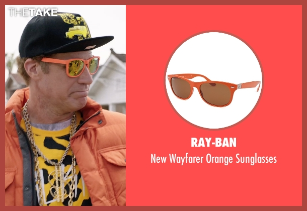 Ray-Ban orange sunglasses from Get Hard seen with Will Ferrell (James King)