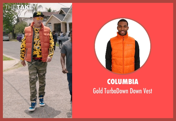Columbia orange vest from Get Hard seen with Will Ferrell (James King)