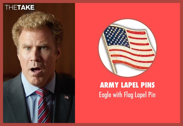 Army Lapel Pins pin from Get Hard seen with Will Ferrell (James King)