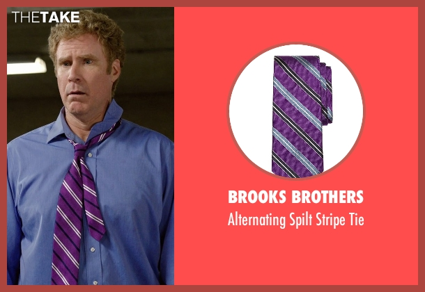 Brooks Brothers purple tie from Get Hard seen with Will Ferrell (James King)