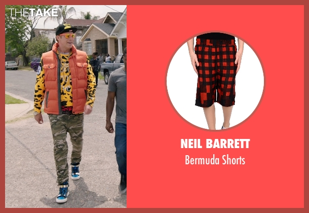 Neil Barrett red shorts from Get Hard seen with Will Ferrell (James King)