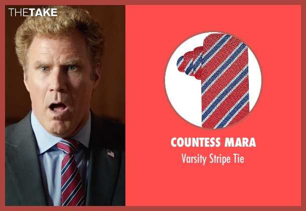 Countess Mara red tie from Get Hard seen with Will Ferrell (James King)