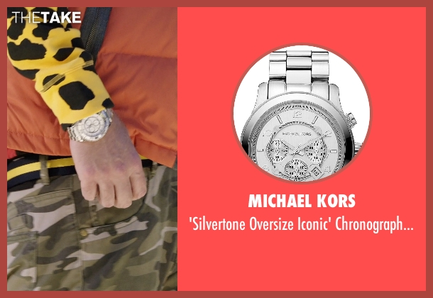 Michael Kors silver watch from Get Hard seen with Will Ferrell (James King)