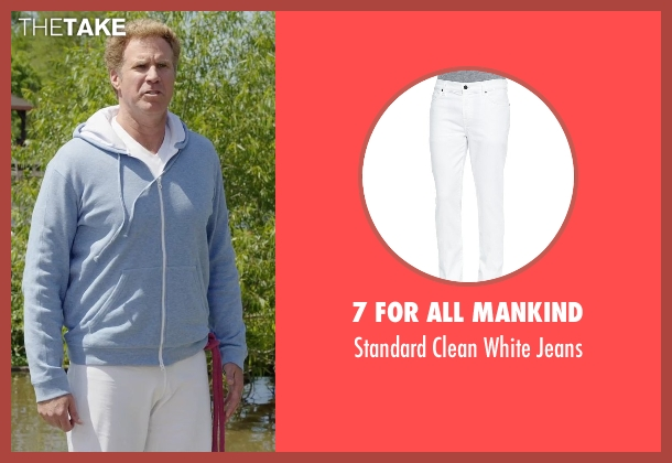 7 For All Mankind white jeans from Get Hard seen with Will Ferrell (James King)