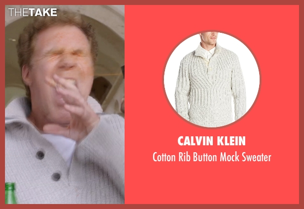 Calvin Klein white sweater from Get Hard seen with Will Ferrell (James King)