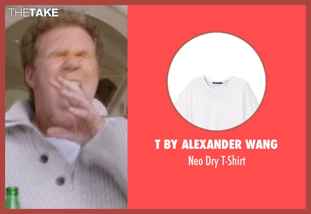 T by Alexander Wang white t-shirt from Get Hard seen with Will Ferrell (James King)