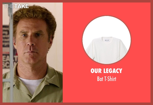 Our Legacy white t-shirt from Get Hard seen with Will Ferrell (James King)