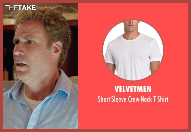 Velvetmen white t-shirt from Get Hard seen with Will Ferrell (James King)