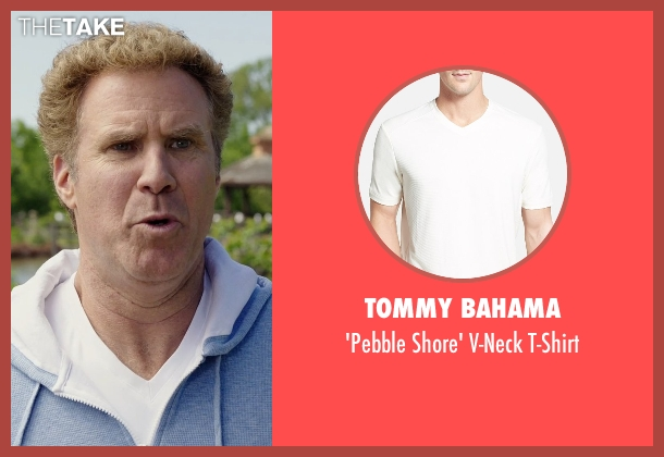 Tommy Bahama white t-shirt from Get Hard seen with Will Ferrell (James King)
