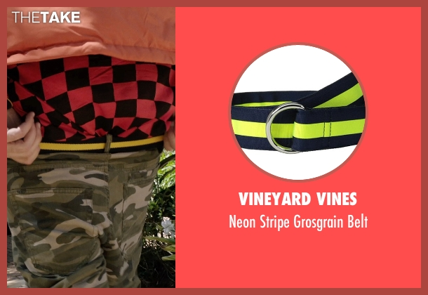 Vineyard Vines yellow belt from Get Hard seen with Will Ferrell (James King)