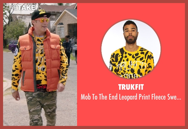 Trukfit yellow sweater from Get Hard seen with Will Ferrell (James King)