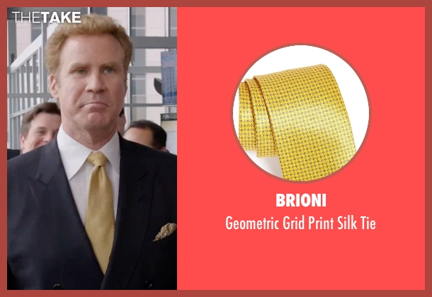 Brioni yellow tie from Get Hard seen with Will Ferrell (James King)