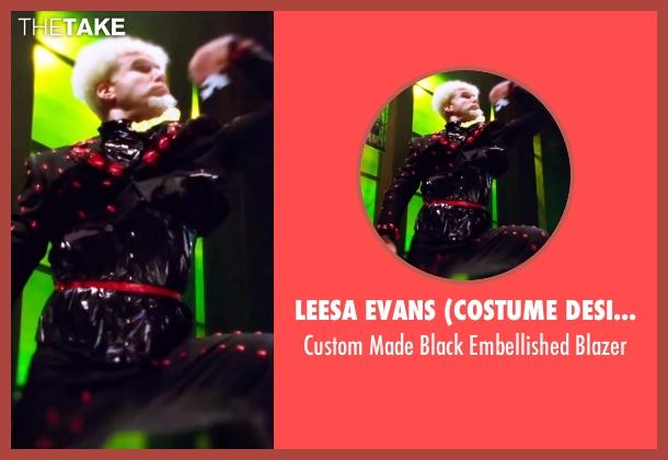 Leesa Evans (Costume Designer) black blazer from Zoolander 2 seen with Will Ferrell (Mugatu)