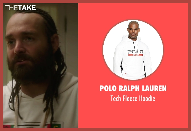 Polo Ralph Lauren white hoodie from Keanu seen with Will Forte (Hulka)
