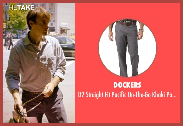 Dockers gray pants from She's Funny That Way seen with Will Forte (Joshua Fleet)
