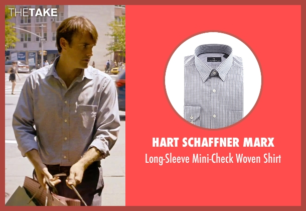 Hart Schaffner Marx gray shirt from She's Funny That Way seen with Will Forte (Joshua Fleet)