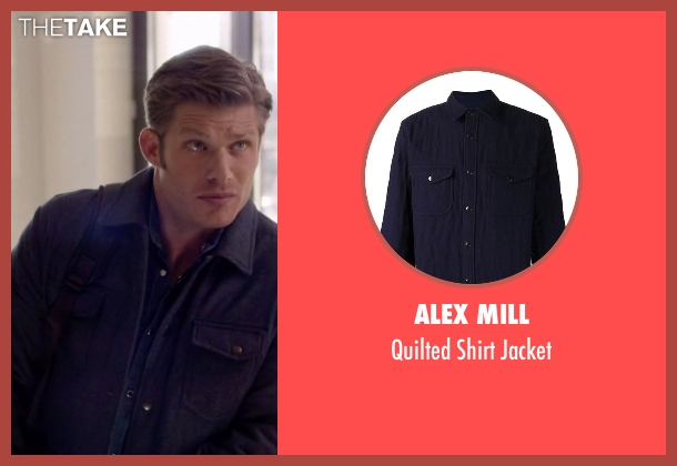 Alex Mill blue jacket from Nashville seen with Will Lexington (Chris Carmack)