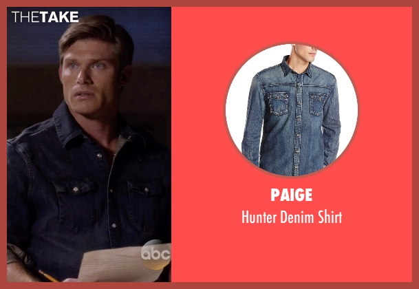 Paige blue shirt from Nashville seen with Will Lexington (Chris Carmack)