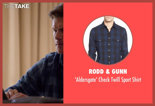 Rodd & Gunn blue shirt from Nashville seen with Will Lexington (Chris Carmack)