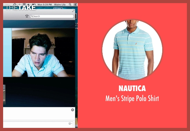 Nautica blue shirt from Unfriended seen with Will Peltz (Adam Sewell)