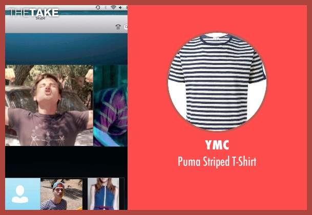 YMC blue t-shirt from Unfriended seen with Will Peltz (Adam Sewell)