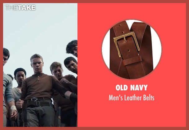 Old Navy brown belts from The Maze Runner seen with Will Poulter (Gally)