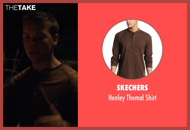 Skechers brown shirt from The Maze Runner seen with Will Poulter (Gally)